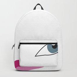 Woman eyes Backpack