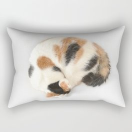 Sleeping Calico Cat Rectangular Pillow