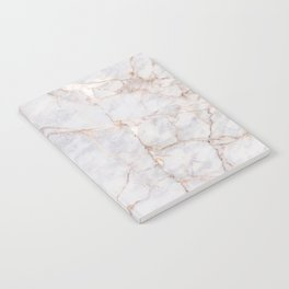 White Italian Marble & Gold Notebook