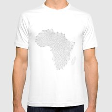 Vector Africa MEDIUM White Mens Fitted Tee