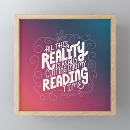 Reality Vs. Reading Rainbow Framed Mini Art Print