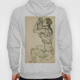 "Egon Schiele ""Female nude with raised shirt"" Hoody"