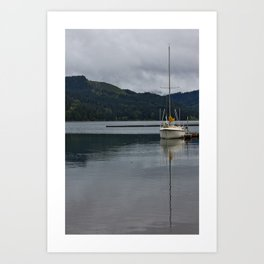 Cloudy seas Art Print