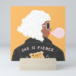 She Is Fierce Mini Art Print