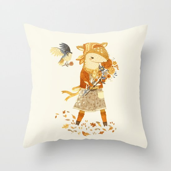 Dakota the Daisy Deer Throw Pillow