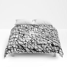 Black and White: Crisscross Comforters