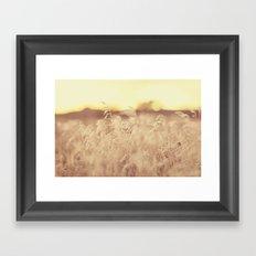 sunset at the farm Framed Art Print