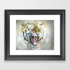 Snarling Tiger Framed Art Print