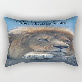 Closed Mind Rectangular Pillow