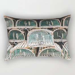 Readying for the lobster season Rectangular Pillow