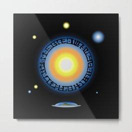 Alien Sun Disc Metal Print