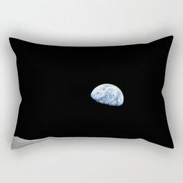 Apollo 8 - Iconic Earthrise Photograph Rectangular Pillow