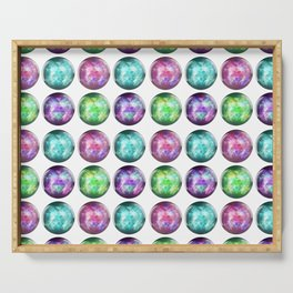 Crystal Ball Pattern Serving Tray