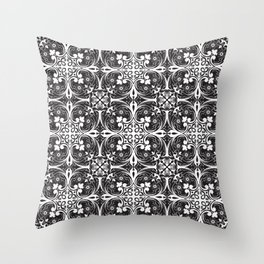 Florence - Black and White Throw Pillow