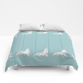 blue fur seal Comforters