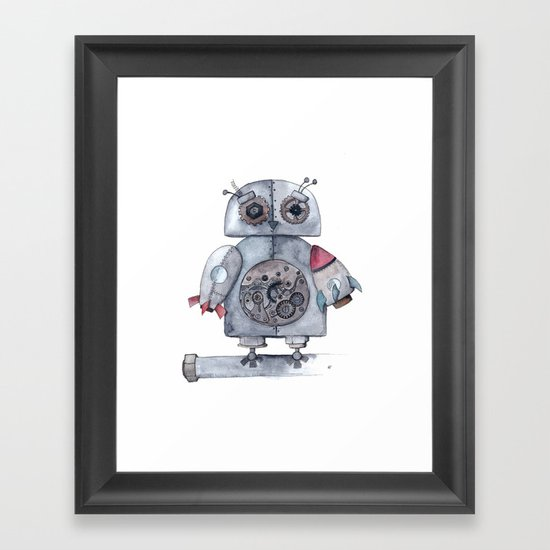 Steampunk Owl Framed Art Print