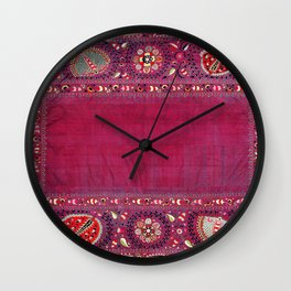 Shakhrisyabz  Antique South West Uzbekistan Suzani Embroidery Wall Clock
