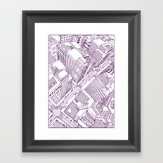 The Watched City Framed Art Print