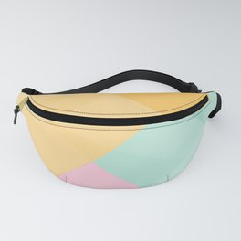 Polygonal Geometric 04 in Creamsicle • Mid-Century Modern Triangle Pattern Fanny Pack