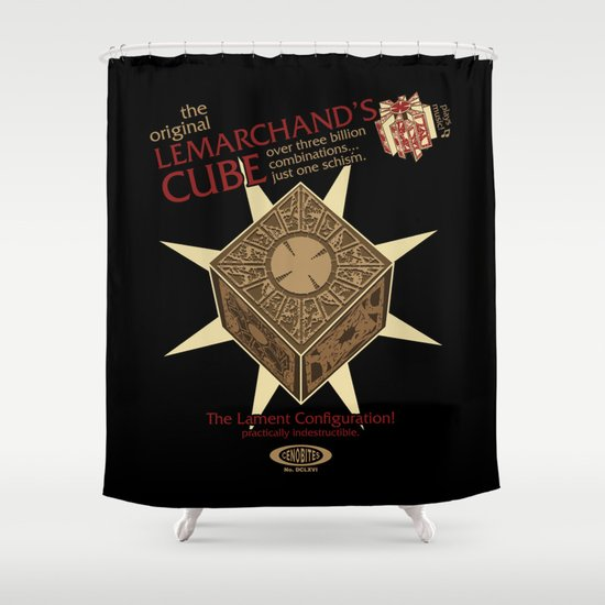 Lemarchand's Cube - Hellraiser Shower Curtain