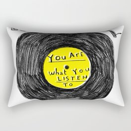 you are what you listen to, YELLOW Rectangular Pillow