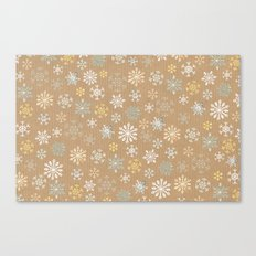 snow flakes pattern Canvas Print