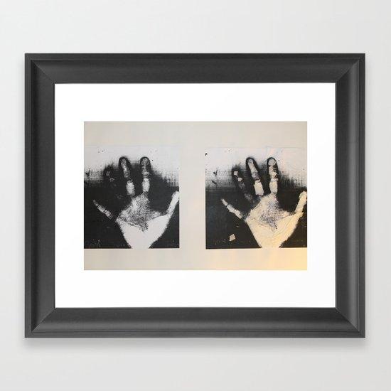 Hand Deletion  Framed Art Print