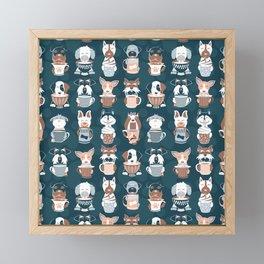 Doggie Coffee and Tea Time II Framed Mini Art Print