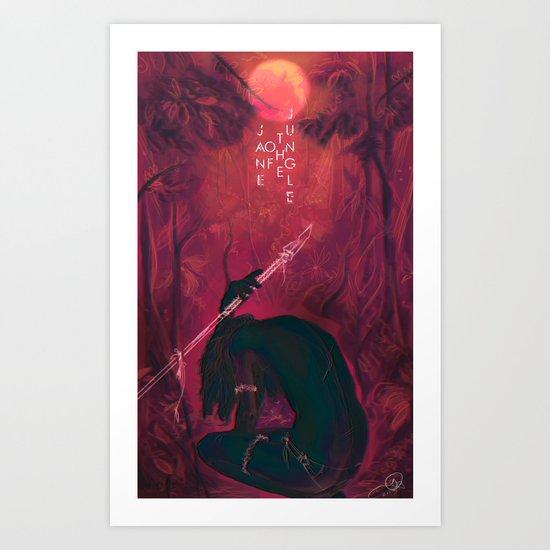 Jane Of The Jungle  Art Print
