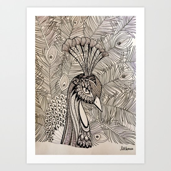 """""""Hope"""" is the thing with Feathers Art Print"""