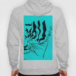 Eye Of The Tiger - Black & Turquoise Hoody