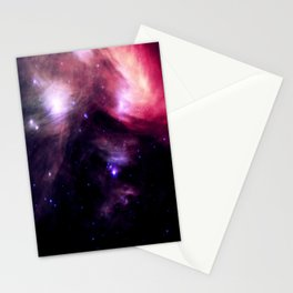 Galaxy : Pleiades Star Cluster nebUlA Purple Pink Stationery Cards
