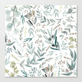 Eucalyptus pattern Canvas Print