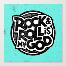 Rock & Roll God Canvas Print