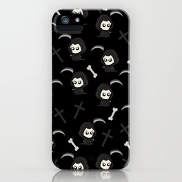 Cute Grim Reaper Pattern iPhone Case