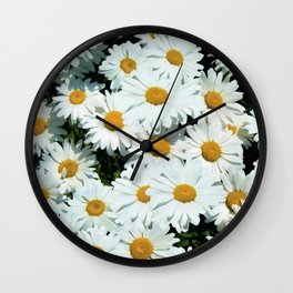 Daisies explode into flower Wall Clock