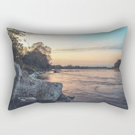 Sunset on the banks of the Ticino river Rectangular Pillow
