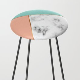 Marble Geometry 056 Counter Stool