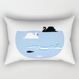 Black Swan White Swan Rectangular Pillow