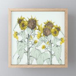 The sunflower brigade Framed Mini Art Print
