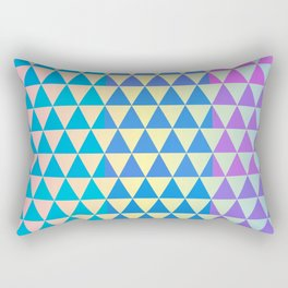 Vivid Multi Color Triangle Geometric Pattern Rectangular Pillow