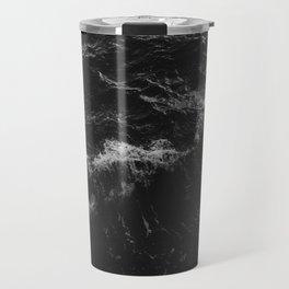 Dark Ocean in Black and. White Travel Mug