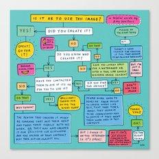 A Helpful Guide Canvas Print