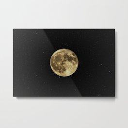 Moon and Stars Metal Print