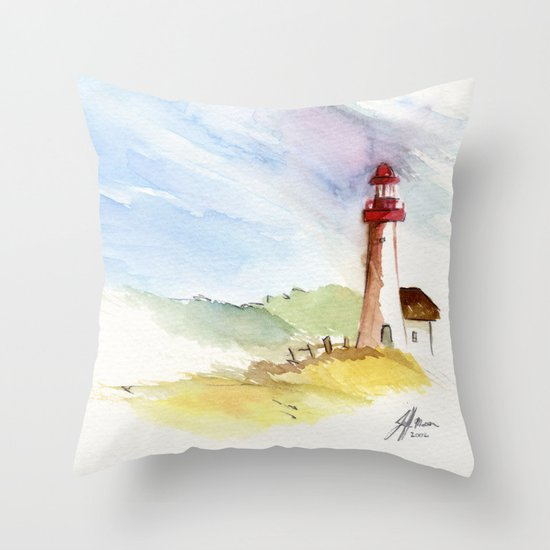 Lighthouse Impressions Throw Pillow