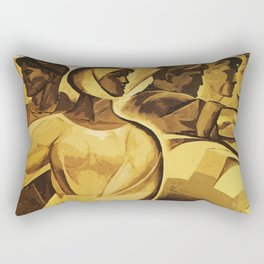 bread for us cccp sssr soviet union political propaganda revolution poster  Rectangular Pillow