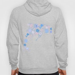 Floral composition in a Dolphin Shape Hoody