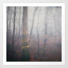 Foggy Holiday Art Print
