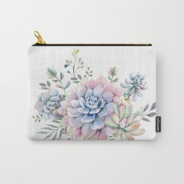 succulent watercolor 1 Carry-All Pouch