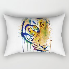 Half Faced Tiger Rectangular Pillow